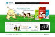 卡通学习网站模板设计PSD