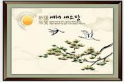 传统中国风景画矢量图