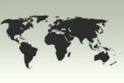世界地图psd分层素材