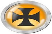 黄色圆形标志图标下载