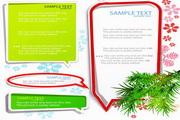 圣诞装饰对话框矢量图