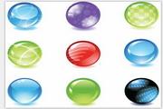 多彩水晶球矢量图