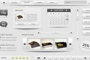 银灰色网页UI设计源文件