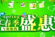 春季盛惠超市吊旗设计psd素材