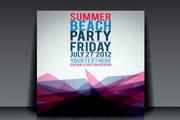 夏日派对海报背景矢量模板