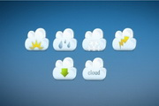 可爱云朵图标源文件设计