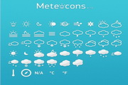 可爱天气图标素...