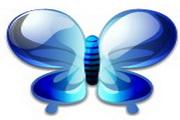 水晶蝴蝶图标下载
