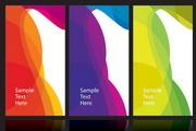 抽象花纹卡片矢量设计素材