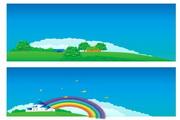 矢量风景背景素材168