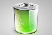 绿色电池图标psd素材