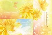 金色花卉横幅