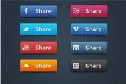 社交媒体图标集PSD素材