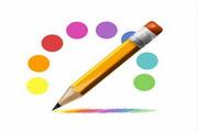 炫彩铅笔图标psd素材