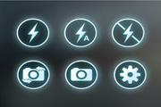闪电与拍照图标psd素材