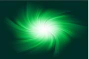 绿色放射光束背景