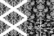 传统黑白花纹矢量