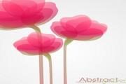 幻彩粉红花卉矢量背景图