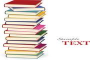 一堆彩色书矢量