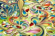 色彩抽象花纹矢量