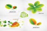 绿叶创意背景矢量