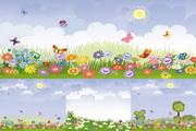 春天风景矢量