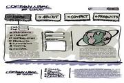 网页设计手绘稿矢量