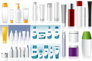 化妆品瓶子包装矢量