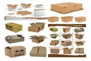 纸箱纸盒矢量