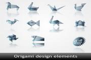 折纸效果图案矢量