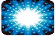 五角星光效背景矢量