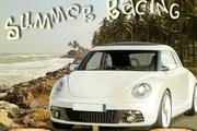 夏季海滩赛车...