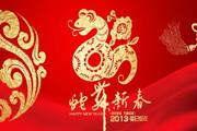 剪纸蛇舞新春海报设计PSD源文件