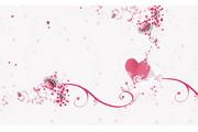 心形浪漫花纹矢量素材