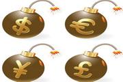 金钱符号炸弹矢量素材
