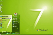 简洁绿色win7电脑主题