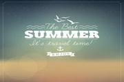 SUMMER夏天背景矢量图