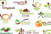 有机食品标签矢量设计