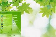 绿色树叶植物电脑主题