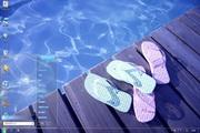 水池边透明win7主题 1.0