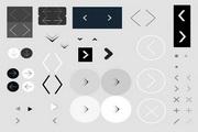 27个网站设计常用箭头图标png