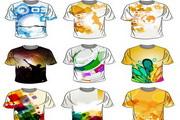 9款潮流T恤设计模板矢量图