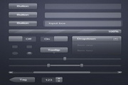 透明玻璃网页按钮UI组件