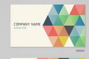 矢量彩色商务名片模板素材