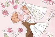 矢量婚礼插画素材