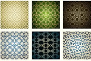 9款欧式古典花纹图案矢量素材