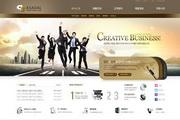 7张一套数码产品网页设计模板