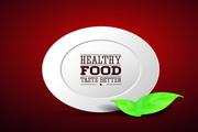 健康食品标签矢量设计