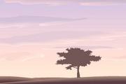 矢量夕阳风景素材