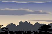 矢量夕阳风景素材16